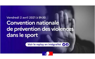 2ème Convention nationale de prévention des violences dans le sport